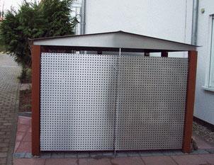 carl gartendesign m lltonnenhaus tonnenhaus fahrradhaus m llbox m lltonnenh user. Black Bedroom Furniture Sets. Home Design Ideas